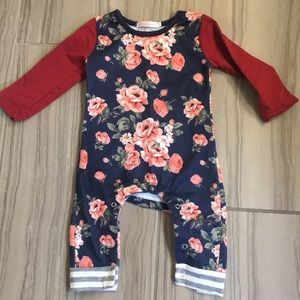 Other - Floral long sleeve romper